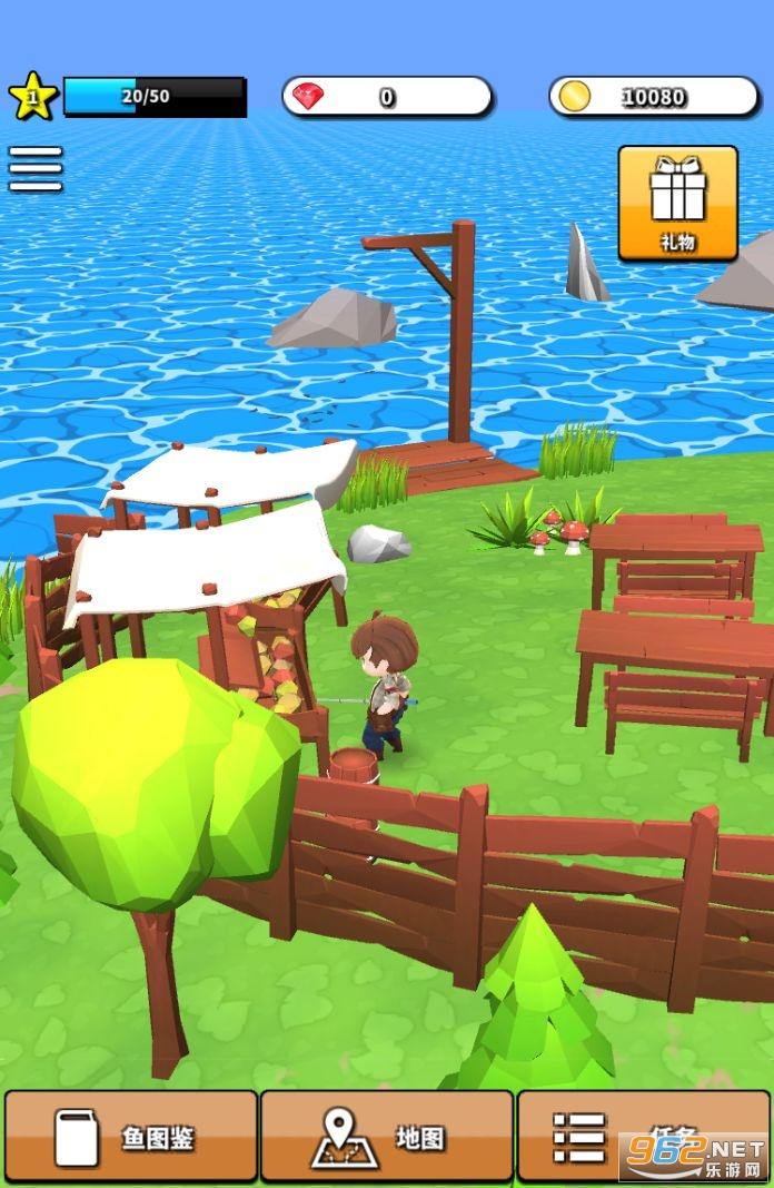 无人岛垂钓生活游戏中文版截图0