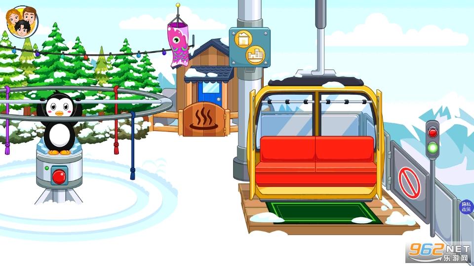 托卡迷你城市滑雪人游戏v1.5 安卓版截图1