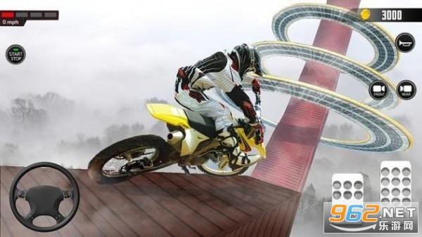 超酷炫赛车手(Impossible Mega ramp moto bike Rider: Superhero 3D)v1.4.0最新版截图2