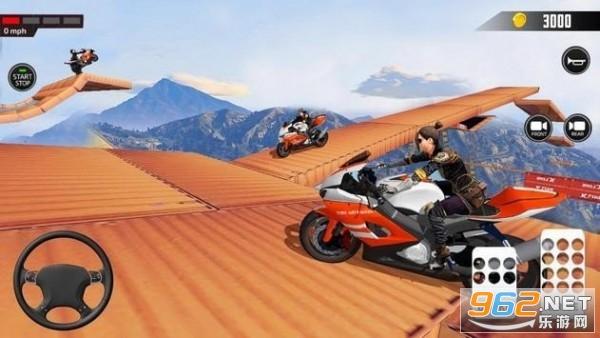 超酷炫赛车手(Impossible Mega ramp moto bike Rider: Superhero 3D)v1.4.0最新版截图0