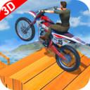 斜坡自行车特技游戏