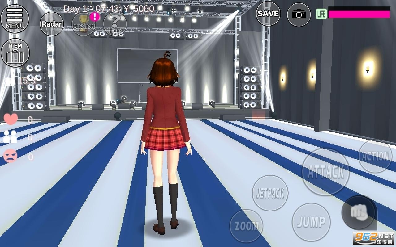 樱花校园模拟器2021年最新版演唱会v1.038.51 (新头发新服装)截图4
