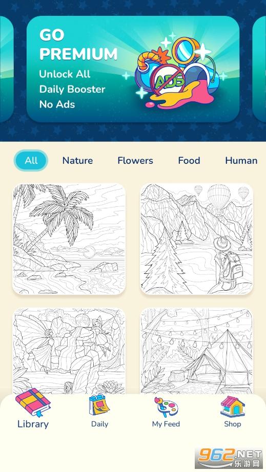 艺术游戏(数字填色游戏)v1.0.0 无广告截图5